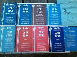 Curtis Model 15 Key Cutter Code Books And Key Application Cross Reference Lot