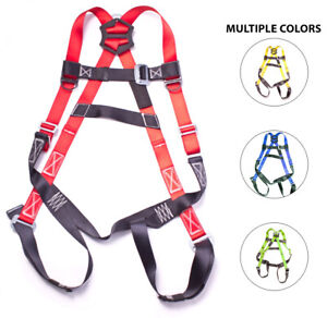 Fall Protection 5 point Adjustable Safety Harness W Pass Through Legs