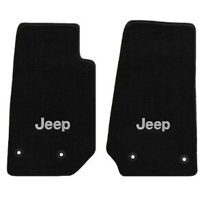 All Weather Carpet Floor Mats With Jeep Logo Fits 2014 2017 2pc Jeep Wrangler