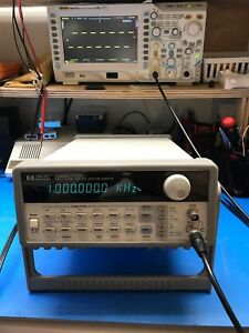 Hp agilent_33120a Function Arbitrary Waveform Generator 15 Mhz Tested