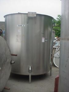 1600 Gallon Sanitary Stainless Steel Tank Slant Bottom