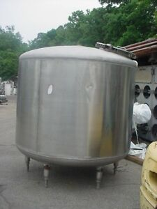 1200 Gallon Sanitary Stainless Steel Tank Dished Top And Bottom