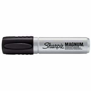 Sharpie Magnum Permanent Markers Chisel Tip Black pack Of 12