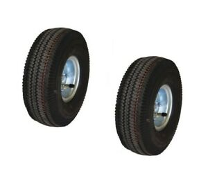 Set Of Two 10 Magliner 121055 Offset Hand Truck Tires 5 8 Id 300 Cap