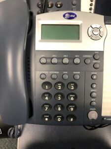 At t Small Business System Phone Model 945 With Power Supply Base 8 Avail