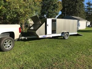 2019 Pro Starr 7 x16 Bullet Snowmobile Trailer With Sledshed Enclosure