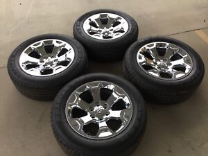 Used Set Of 4 Nexen Roadian Htx Rh5 275 55 R20 Tires And Chrome Mopar Dodge Rims