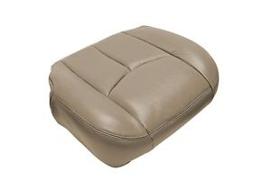 2003 2007 Chevy Silverado Passenger Bottom Leather Seat Cushion Cover Med Tan