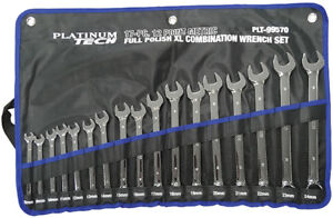 Platinum 17pc Metric Long Pattern Full Polish Combination Wrench Set 99570