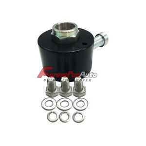 Black Steering Wheel Quick Release Disconnect Hub 3 4 Shaft Size