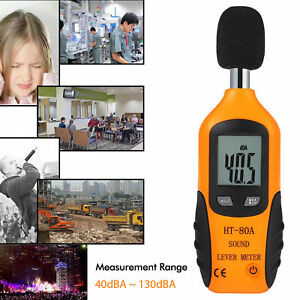 Lcd Digital Sound Level Decibel Noise Meter Db Measure Pressure Monitor Tester