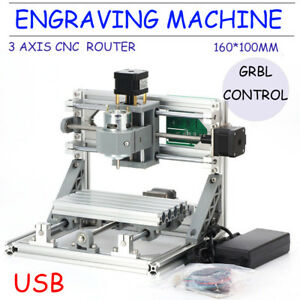 Mini 1610 Cnc Usb Carving Machine For Plastic Wood Lightweight Engraving Machine