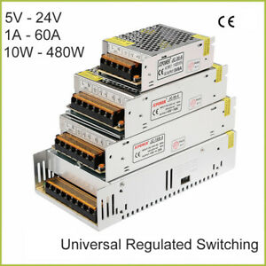 Dc 5v 24v Universal Regulated Switching Power Supply 1a 60a 10w 480w Led 3d Psu