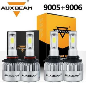 Auxbeam 9006 9005 Led Headlight For Honda Accord 90 2012 Civic 2004 2015 Hi low