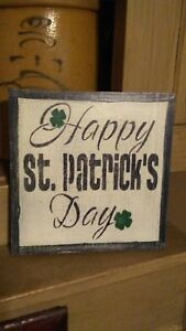 Seasonal Wooden Sign Happy St Patrick S Day