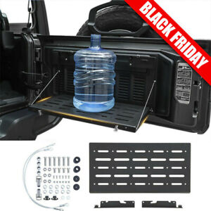 Foldable Rear Tailgate Door Table Storage Cargo Shelf For Jeep Wrangler Jl Jlu
