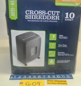 Cross cut Shredder Capable Of Shred Credit Cards Small Paper Clips And Staples