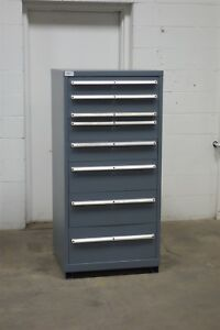 Used Lista 8 Drawer Modular Cabinet Industrial Tool Parts Storage 723 Vidmar