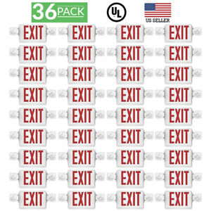 Sunco 36 Pack Emergency Exit Sign Single double Face Led W 2 Head Lights Ul