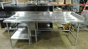 West Star Commercial Stainless Steel Prep Work Table With 2 Dipping Wells