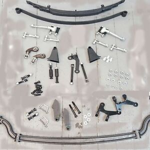 Model A 1928 1931 Ford Basic Coupe Hot Hair Pin Drop Drilled Axle Kit Rat