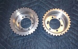 pair 1 2 Pitch 32 Tooth 34 Tooth Offset Blower Supercharger Pulleys 671 871