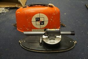 Vintage David White Dw 8090 Survey Level Surveyors Transit W Plumb Bob In Case