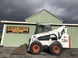 2012 Bobcat S750 Skid Steer Loader Enclosed Cab Heat ac 85hp Cheap Shipping