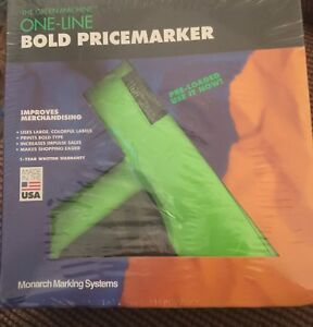 monarch 1100 One line Bold Pricemarker Preloaded 1 New Roll