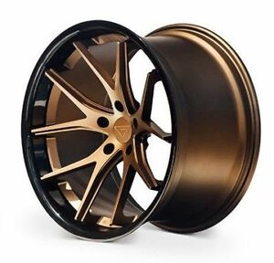 22 Ferrada Fr2 Matte Bronze Wheels For Porsche Panamera V6 S Gts Turbo 5x130