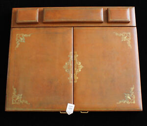 Eccolo Italian Leather Desk Pad With 2 Doors retailed 875