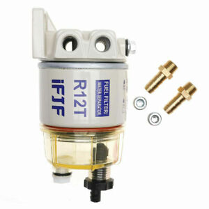 For R12t Boat Marine Spin On Fuel Filter Water Separator 120at