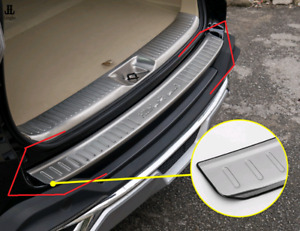 Outer Rear Bumper Protector Sill Plate Trim For Toyota Highlander 2014 2018
