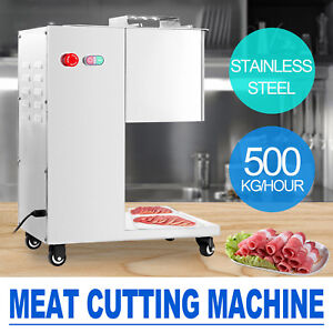 500kg Meat Cutter Slicer 110v Meat Cutting Machine With 2 5 50mm One Sets Blade