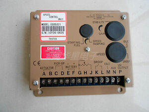 Esd 5221 Electronic Engine Speed Controller Governor Generator Genset Parts