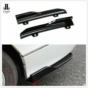 Black Rear Side Skirt Spoiler Lip Bumper Wing Trim For Honda Accord 10th 2018