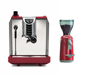 Nuova Simonelli Oscar 2 Ii Espresso Coffee Machine Grinta Grinder Set 110v Red