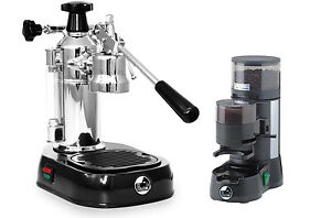 La Pavoni En Europiccola Lever Espresso Coffee Maker Machine Jdl Grinder Set