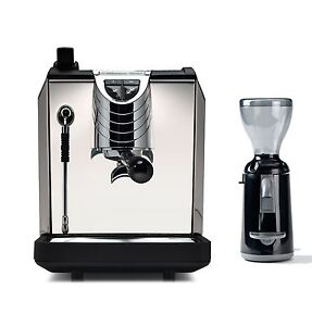 Nuova Simonelli Oscar 2 Coffee Espresso Machine Grinta Grinder Set 220v Black