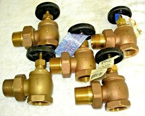 1 Brass Steam Radiator Shut Off Valves New Mixed Mfg 5 13 50 Each Free ship