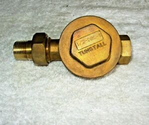 Tunstall 1 2 X 1 2 Dbc Brass Straight Steam Trap Thermostatic Radiator Valve