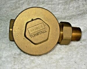Tunstall 3 4 X 3 4 Dbc Brass Straight Steam Trap Thermostatic Radiator Valve