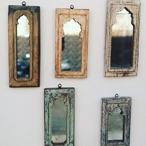Indian Antique Wall Frame With Mirror In Assorted Size Bundle Offer Of 5 Pcs