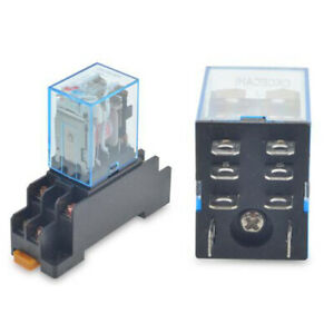 Ly2nj Dpdt 12v Dc Coil Power Relay 8 Pin Hh62p Jqx 13f With Socket Base Sj