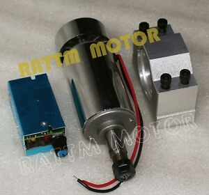 300w Air Cooled Spindle Motor Dc48v 12000rpm 52mm Clamp speed Control Cnc Kit