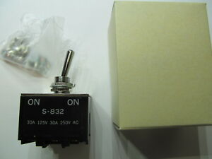 Nkk Switches S832 Toggle Switch 3pdt Panel Mount