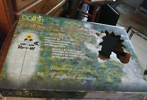 Vintage Country Stained Glass Weather Vane Nice New Morning Sunflower