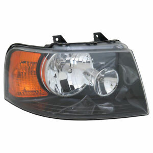Fits For 2003 2004 2005 2006 Ford Expedition Headlight W black Right 6l1z 13008