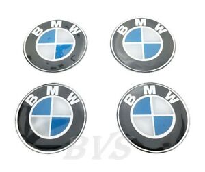 New 4 Pcs For Bmw 60 Mm Resin Wheel Center Caps Logo Badge Decal Emblem Sticker