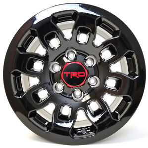 Set Wheels 16 X 8 6x139 Trd Pro Style Gloss Black For Toyota 4runner Tacoma